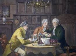 Painting of making punch