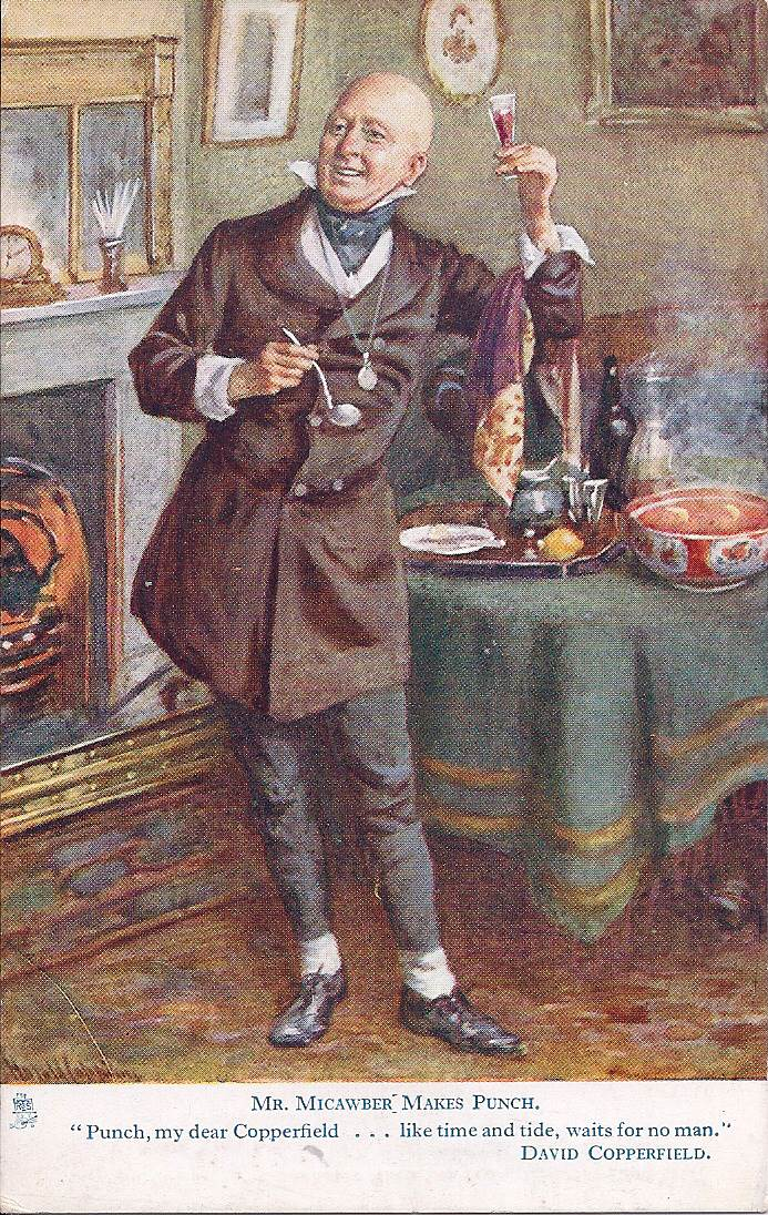 ... Dickens's 'David Copperfield' showing Mr Micawber making punch