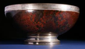 Burns marble punch bowl